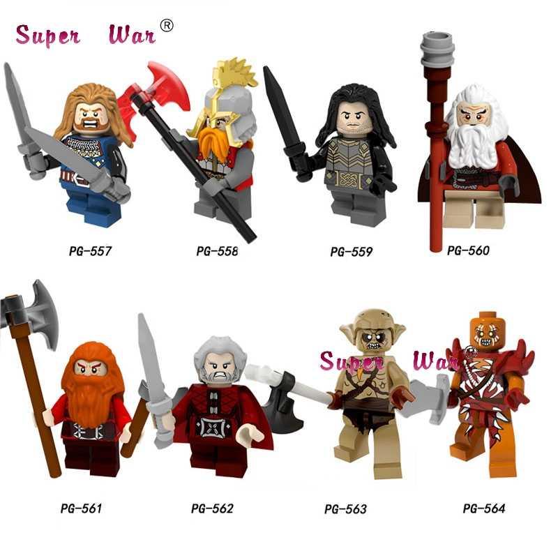 เดี่ยวชุดอาคารบล็อก Lord of the Rings Philip เหล็กเท้าและ Kellett Ouyin Duoli Gandalf Saruman อิฐของเล่น