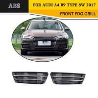 A4 ABS Mesh Fog Light Grille Protective Covers For Audi A4 8W Standard Bumper Only 2017