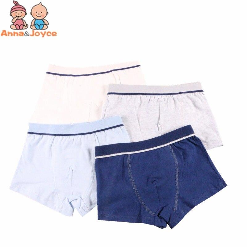 2 Pcs/Lot Boys Underwear Pure Color Kids Shorts Panties Cotton Baby Children Boxer for Teenager Underpants 2-10Y 1