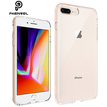 купить Phenvel crystal bumper case for iphone 7 plus iphone7 TPU + PC Transparent cover protective case for iphone 8 plus iphone8 по цене 194.09 рублей