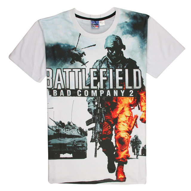 2016 Battle Field T Shirt Men & Women 3D Hot Tshirts Tees TV Game BF Tops Casual Short Sleeve Summer Bad Company 2 Homme T