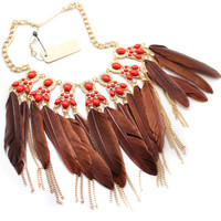 Fashion Accessories Manufacturers Selling Golden Feathers Restoring Ancient Ways Is Inferior Smooth Short Necklace