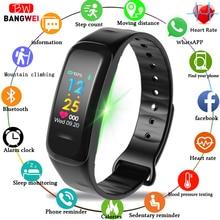 BANGWEI Smart Bracelet Sport Fitness Tracker Pedometer OLED Color Touch Screen IP67 Waterproof Wristband PK mi band 3+box