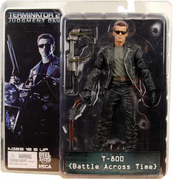 Nuevo 7 pulgadas 18cm NECA The Terminator 2 T-800 T800 batalla a través del tiempo figura de acción juguete modelo colección