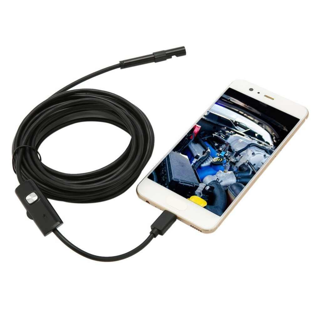 7 ミリメートル防水 1 メートル/1.5 メートル/2 メートル/3.5 メートル/5 メートル内視鏡レンズケーブル USB 検査ボアスコープカメラ Android 640*480 電話/1280*720 PC