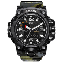SMAEL Sport Men Digital Watch Men Dual Display Wristwatch Military Army Led Waterproof Male Clock Relogio