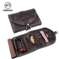 FIREDOG Tobacco Pipe Genuine Leather Accessories Smoking Pipe Bag for Weed Tool Case