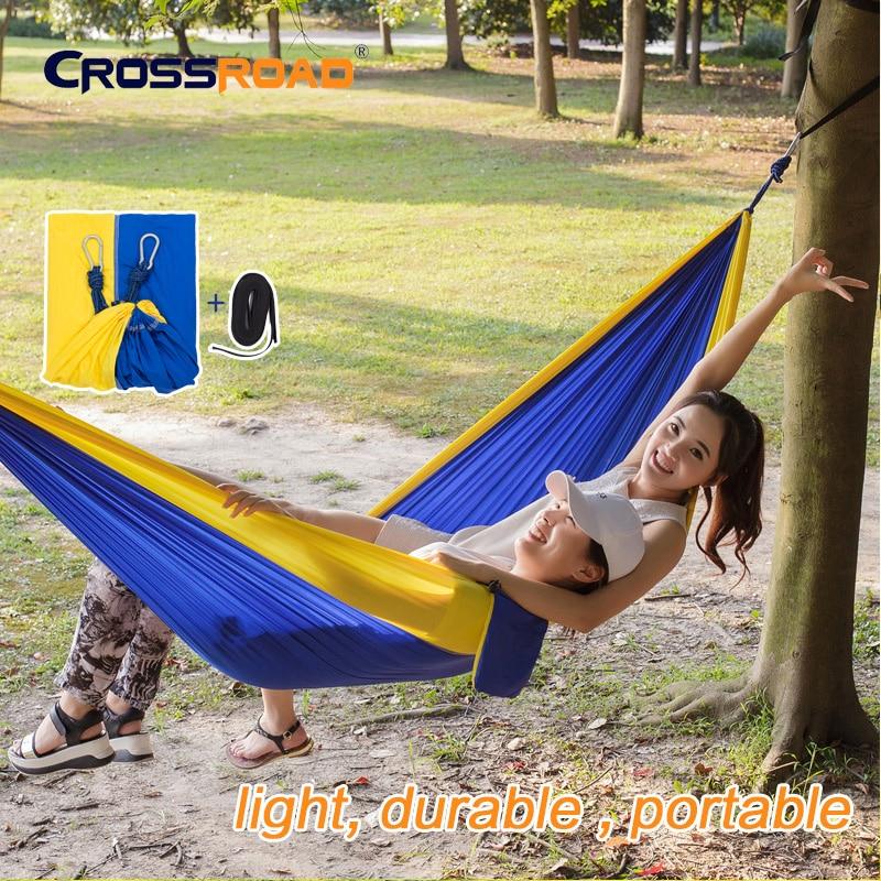 newarrive 260x145cm 2 person hanging hammock chair double with straps parachute portable outdoor garden swing indoor for bedroom - Indoor Hanging Chair For Bedroom