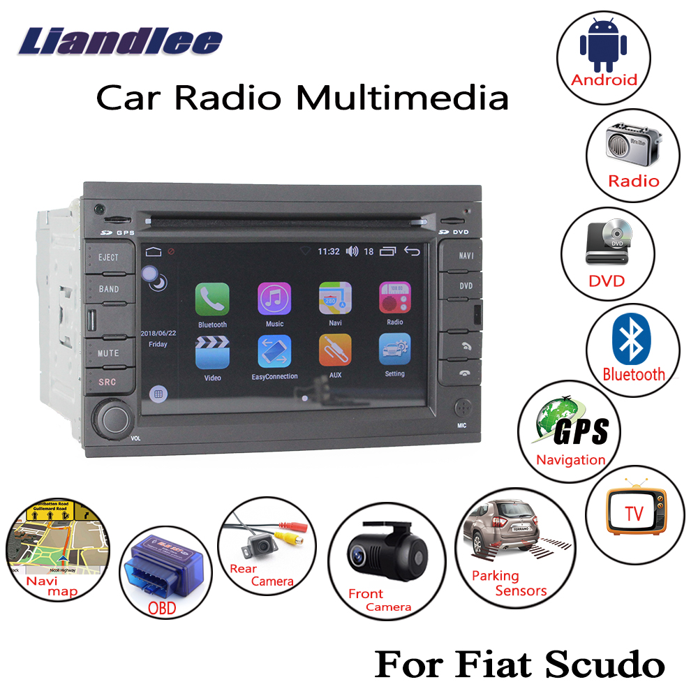 Liandlee For Fiat Scudo 2007 2015 Android Car Radio CD DVD Player GPS Navi Navigation Maps