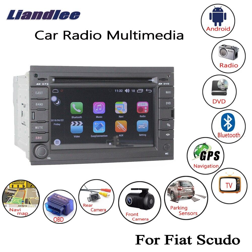 Liandlee Pour Fiat Scudo 2007 ~ 2015 Android Voiture Radio CD Lecteur DVD GPS Navi Navigation Cartes Caméra OBD TV HD Écran Médias