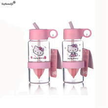 Creative Fruit Juice Infuser Water Bottle 800ml Hello Kitty Kettle Portable Lemon Juice Bottle For Water Sport Drinking Bottle