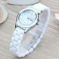 Luxury Rhinestone Watches Women ceramics Quartz Watch For Ladies Dress Watch Gold bracelet Clock relogios