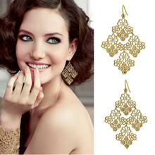 604 Promotion Dainty Bohemia Hollow Drop Earrings Women Trendy Brincos Earrings Bijoux Jewelry Gift E5221(China)