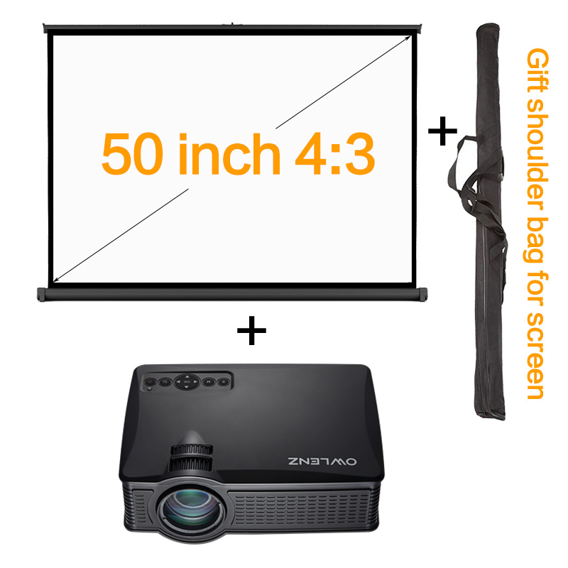 50 inch 4 3 portable desk projector screen table screen for Miroir 50in projector review