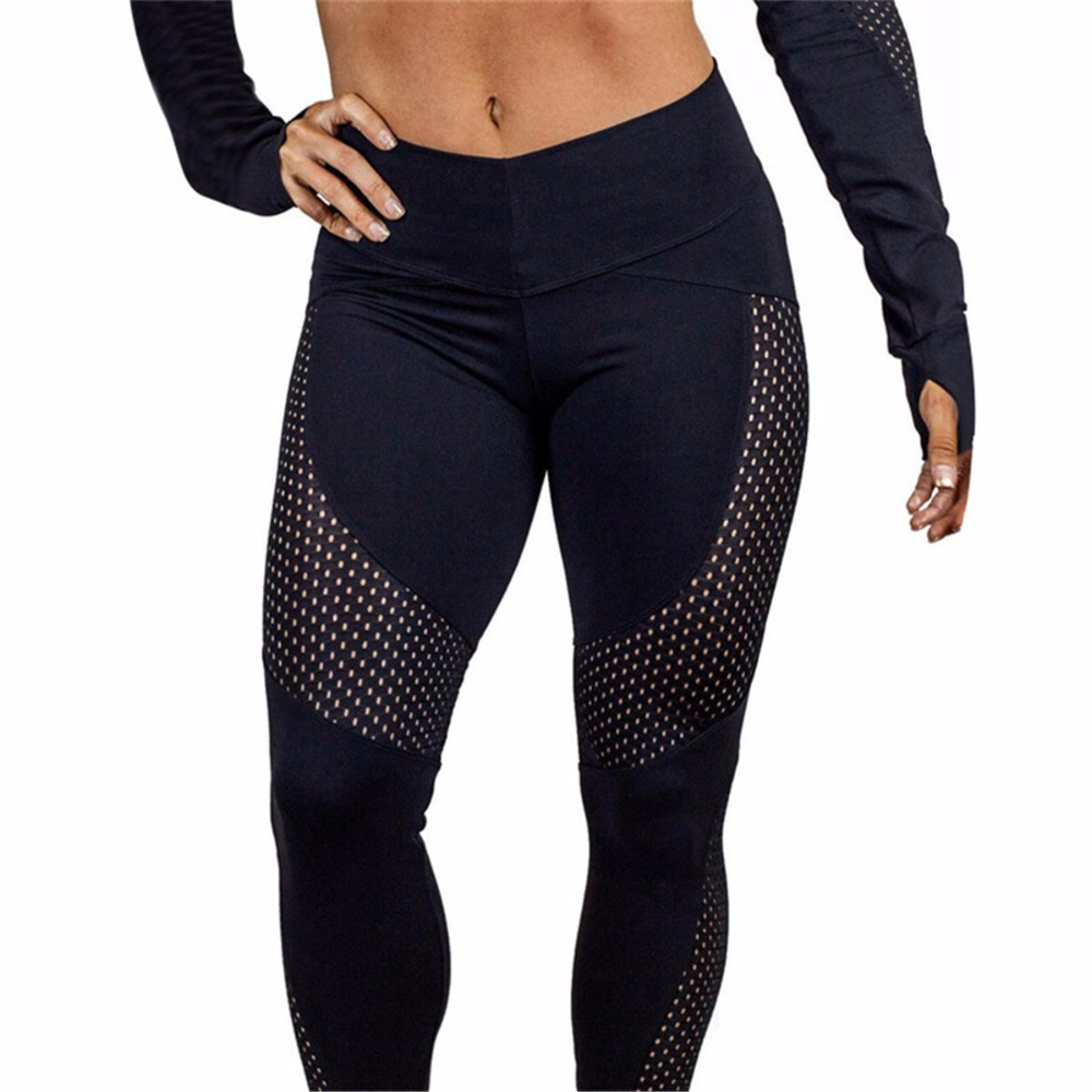Autumn Fast-drying Yarn Leggings For Women Fashion Ankle-Length Sporting Legging Fitness Sexy Laies Leggins Hip Push Up Pants