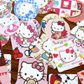 46 Pcs/lot DIY Hello Kitty Sticker For Kids Rooms Home Decor Diary Notebook Label Decoration Toy Pikachu 3D Sticker