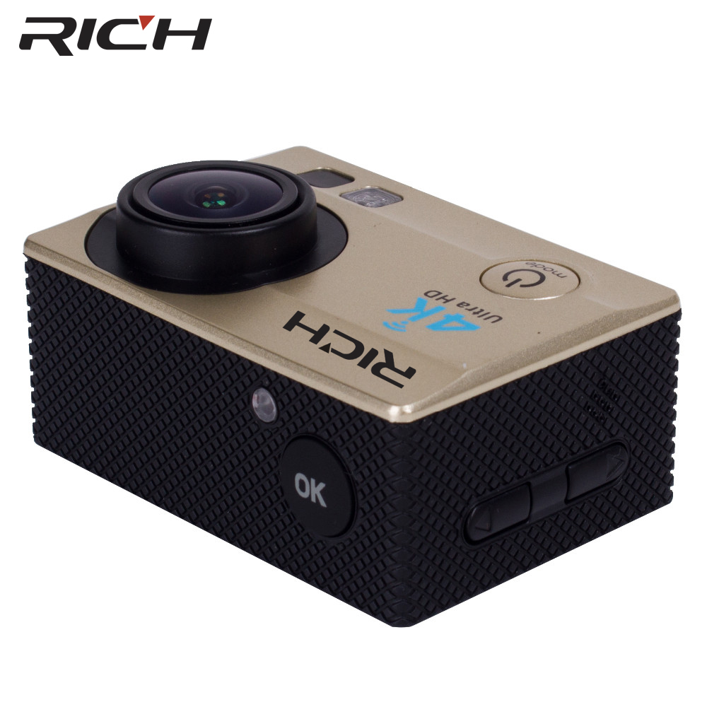 RICH Q5 Ultra HD 4K 30FPS WIFI Action Camera 30M waterproof 14MP 1080p 60fps DVR underwater go Helmet extreme pro sport cam