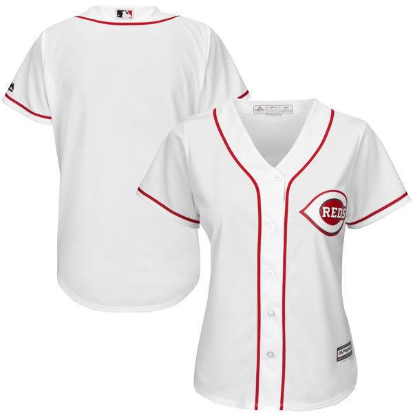 MLB Womens Cincinnati Reds White Home Cool Base Jersey
