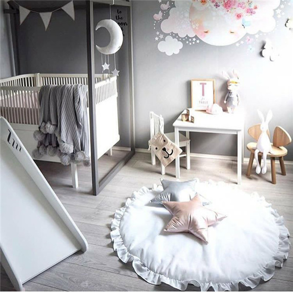 Baby Nordic style lace up quilt Zipper Floor Bed Play Mats Kids Toddler warm winter Blanket Cover Developing Carpet tapis INS nordic style cotton thread blanket thicken woven bed spread throw sofa cover blanket free shipping