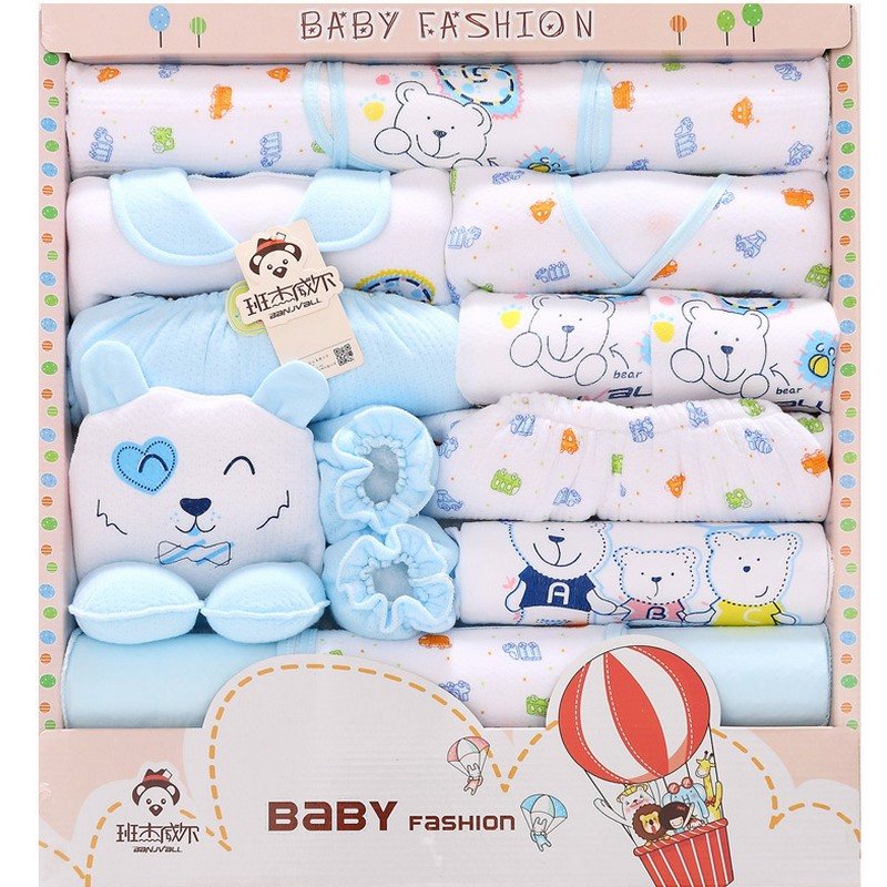 18pcs Unisex baby winter clothes baby boy clothing cotton newborn clothes baby pajamas baby bodysuits bebe clothes gift set TZ36 baby set baby boy clothes 2 pieces