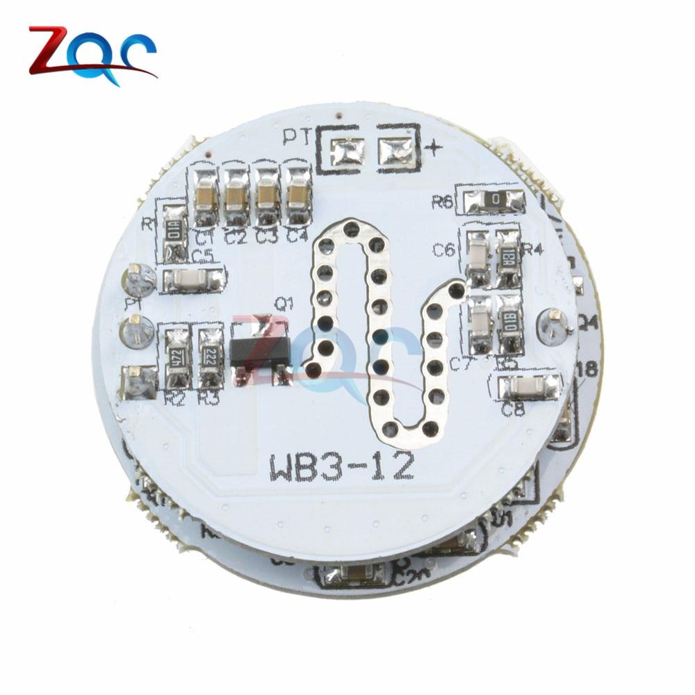 LED Microwave Radar Sensor Module 3-12W Microwave Radar Sensoring Switch Module Special for Spherical Lamp td tad wb8 3 3ghz microwave radar motion sensor switch 220v