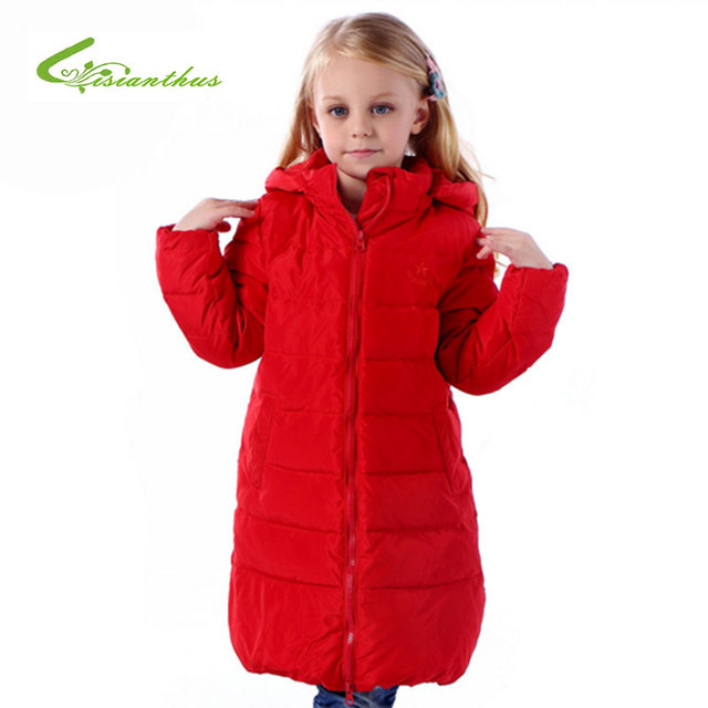 Crianças Para Baixo Casaco de Inverno Quente Casaco Casual para As Meninas Roupas de Alta Qualidade Zipper Cor Sólida Destacável Cap Casacos Parkas
