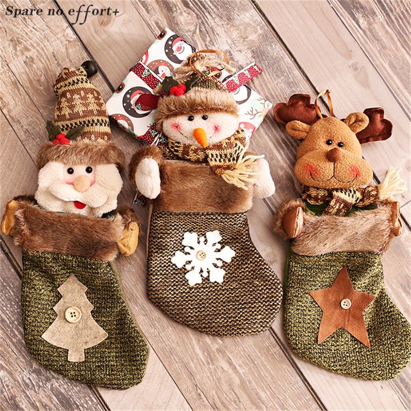 Christmas Tree Decorations Christmas Stockings Merry Christmas Candy Gift Bags Happy New Year Decor Gift Holders Regalos Navidad