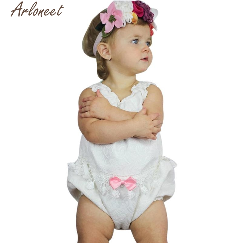 ARLONEET Baby Rompers 2017 Infant Baby Girl Floral Lace Clothes Romper Sunsuit Outfits P30 Jan05