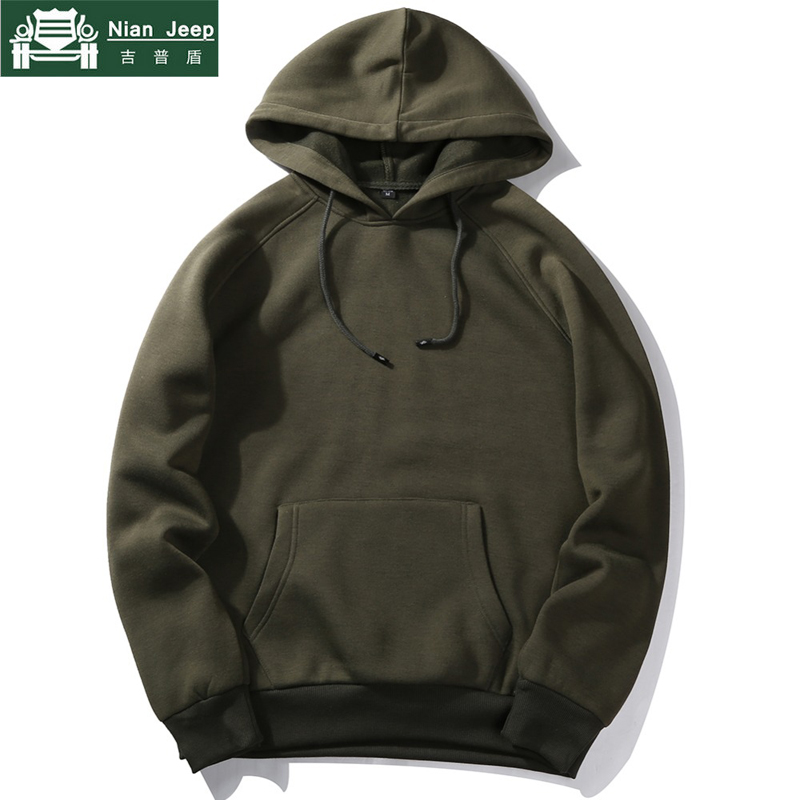 Fashion Hoodies Men Spring Autumn High Quality Fleece Liner Sweatshirts Male Brand Streetwear Solid Warm Hoodies Euro Size S-2XL