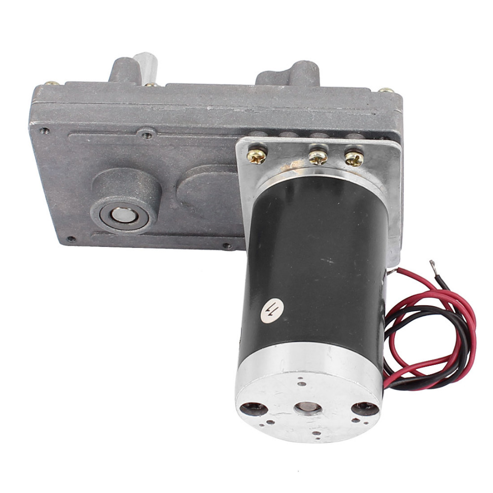 цена на Newest DC 12V 10/13/20RPM High Torque Electric DC Worm Gear Box Motor Speed Reducer Motor 8mm Dia D shaped Shaft
