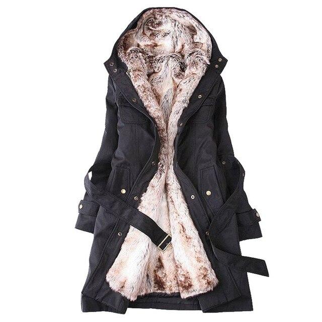 2017 женщин шерстяное пальто зима лайнер траншеи пальто средней длины тонкий мех куртка пальто кашемировые пальто женщин Бесплатно доставка