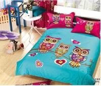 Uil beddengoed sets queen size sprei dekbedovertrek laken lakens slaapkamer dekbed linnen designer volwassen 100% katoen