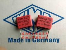 2019 hot sale 10pcs/20pcs Germany WIMA capacitor MKP10 1600V 0.033UF 1600V333 33nf P: 15mm Audio capacitor free shipping mdtc160a 1600v gold module