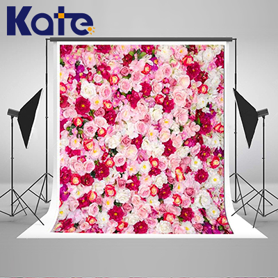 Kate Flower Wall  Backdrop Indoor Wedding Background Cloth Spring Photography Backdrops Seamless Photo For Studio Custom