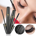 2pcs Eyes Mascara 3D Fiber Lash Makeup Set Black Natural Thick Curling Magic Extended Eyelash Waterproof Colossal Lengthening