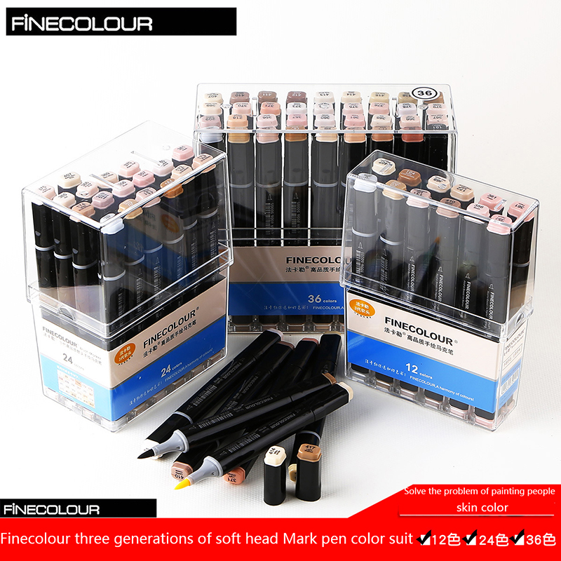 brush pen set art supplies skin manga anime markers paint for clothes goods for creativity sketching drawing watercolor markers art supplies 6pcs paint brush for painting markers for drawing stationery fine point posca sharpie manga de dessin au stylos
