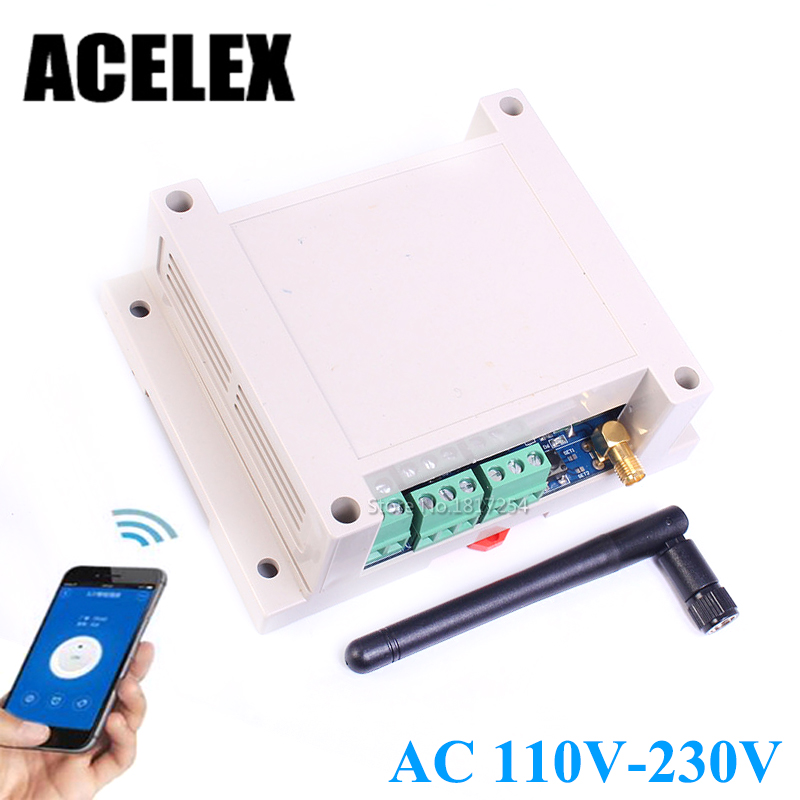 AC 110V-230V Wifi Relay Switch Multi Channel Mobile Phone Remote Control Network Relay Module With Antenna Wireless Smart Home bluetooth control switch bluetooth module mobile phone control relay smart home