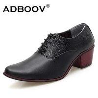 Gents 6cm High Heel Wedding Shoes Pure White Black Color Men Heighten Heel Party Shoes 2