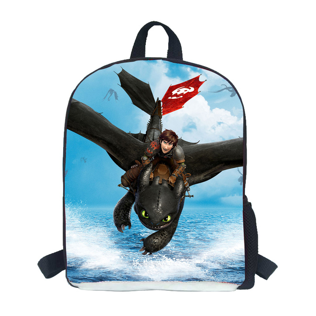 12-inch Mochila Dragones Kids Bag Boys How to Train Your Dragon School Bags Children Schoolbag Age 3-6 Mochila Escolar Menino