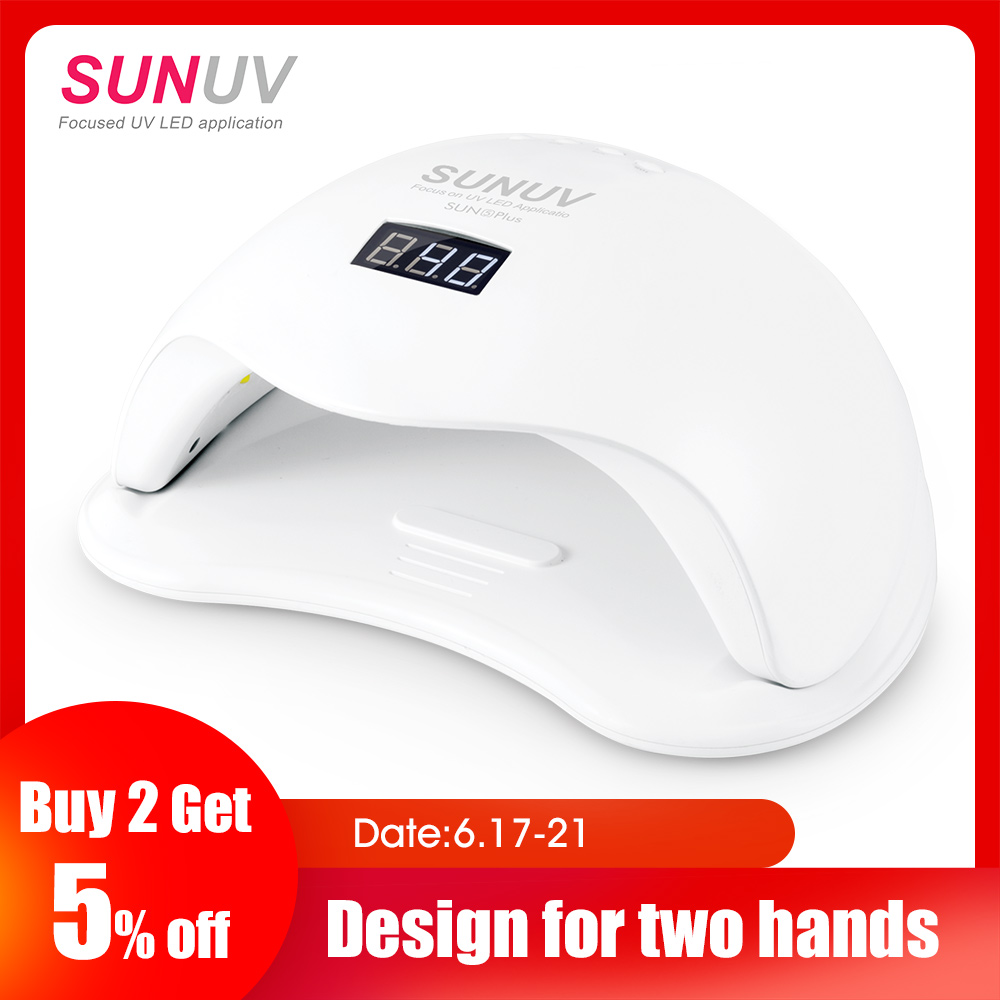 SUNUV SUN5 Plus 48W UV Light Nail Dryer for All Gels Dual Hands 36Leds Manicure Lamp