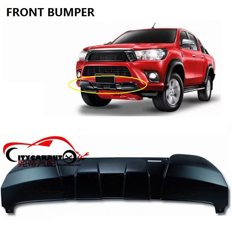 CITYCARAUTO FRONT EXTERIOR TRD BUMPER COVER ACCESSORIES FIT FOR HILUX REVO PICKUP CAR 2015-2017 WITH FREE SHIPMENT lift kit for toyota hilux revo