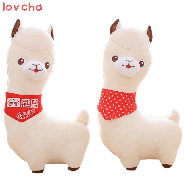 lovely 40cm cartoon alpaca plush doll toy fabric sheep soft stuffed