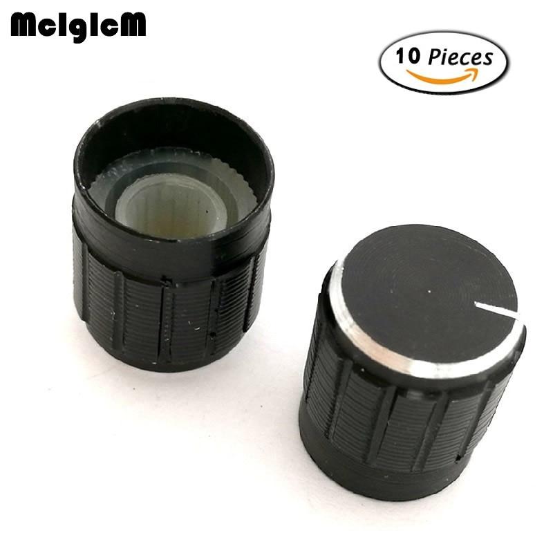 B0056 10pcs 15*17mm aluminum alloy potentiometer knob rotary switch volume control knob black ...