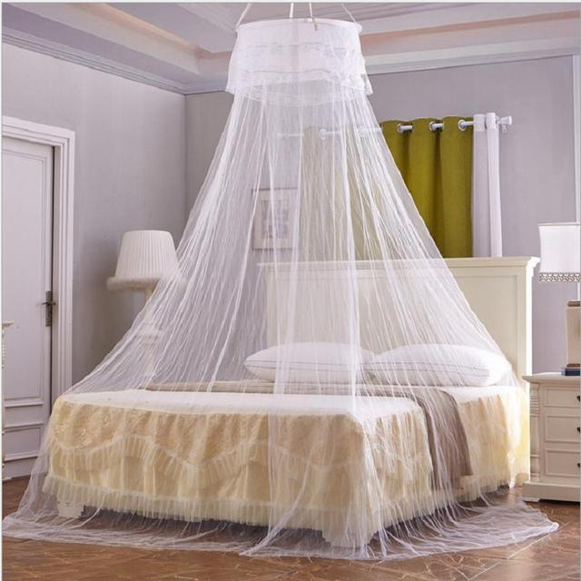Hang Round Mosquito Nets For Adult Beds Tent Bedding Mesh Lace Curtains Canopy Princess Double Bed & Hang Round Mosquito Nets For Adult Beds Tent Bedding Mesh Lace ...