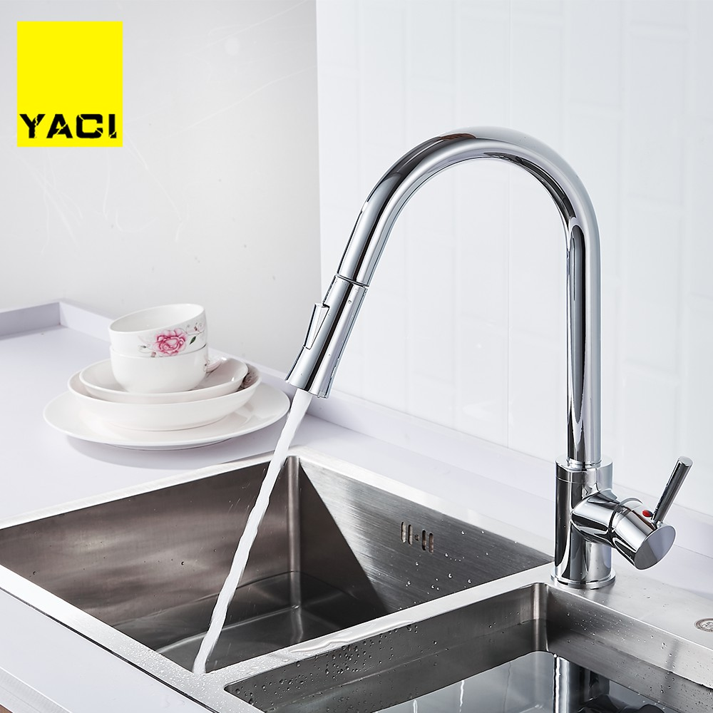 Kitchen pull out faucet sink deck is installed with 2 types of water outlet kitchen sink faucet