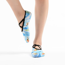 3 Pairs/Lot Yoga Socks Women Cotton 3D Printed Socks Yoga Pilates Non-slip Yoga Socks Dance Anti-friction Sports Sweat Socks