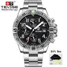 Tevise мужские часы с функциональным циферблатом автоматические механические часы роскошные золотые наручные часы для мужчин золотые часы Relogio Masculino