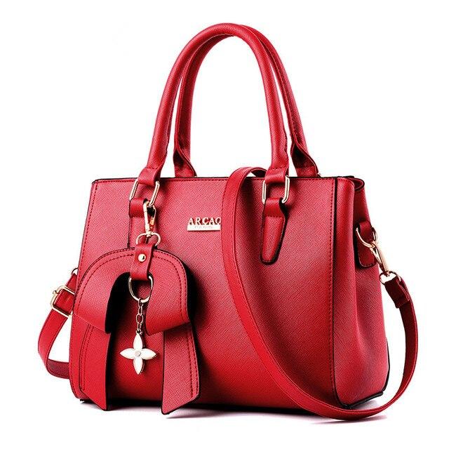 New to the bow luxury luxury designer leather handbag large capacity ladies large oblique handbag shoulder bag messenger bag