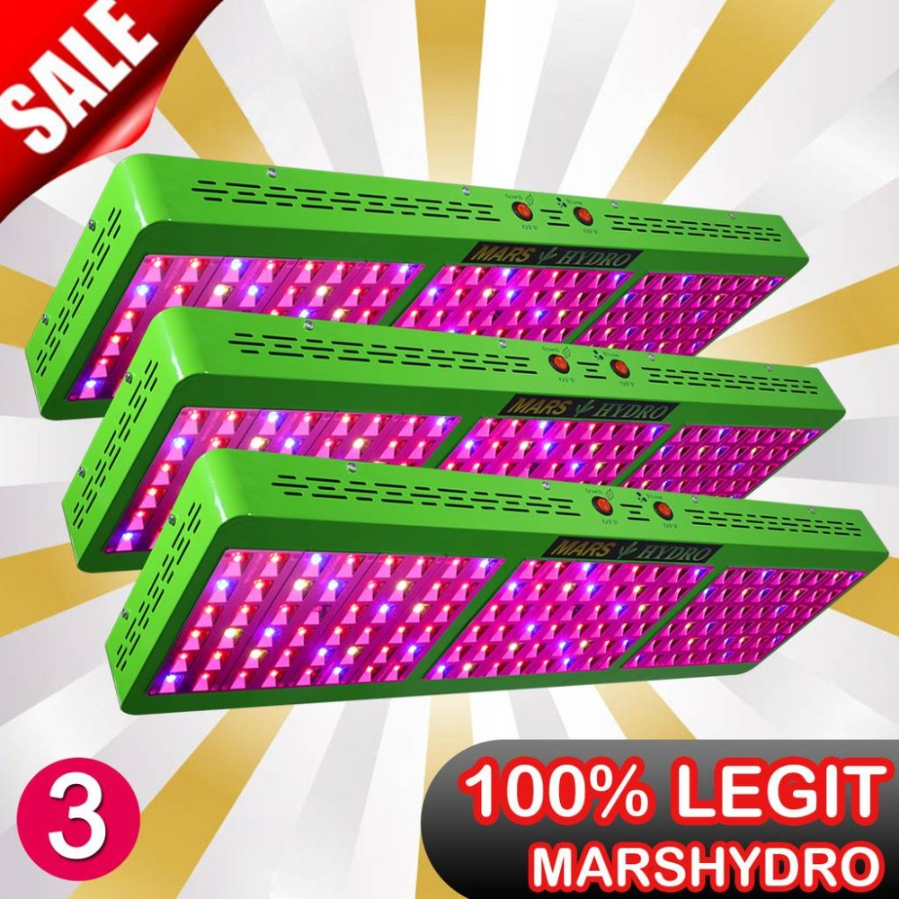 3PCS Mars Hydro Reflector 720W Full Spectrum Led Grow LightPanel Hydroponic System for Indoor Growing