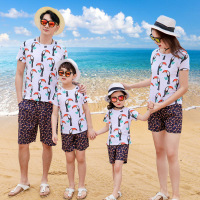 Family Matching Clothes 2019 Summer New Casual Floral Short Sleeve Sets Family Matching Outfits Family Look Mommy And Me Clothes